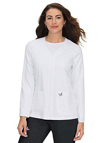 KOI Mariposa Women's Lisa Scrub Jacket White 3XL