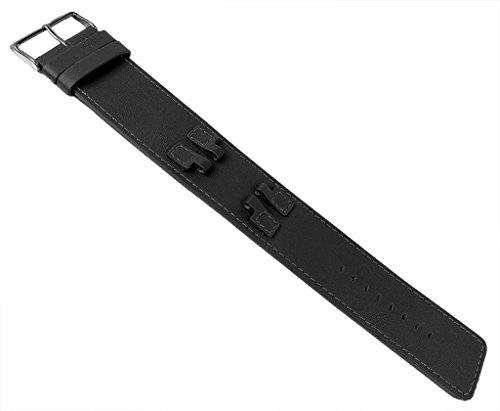 Bruno Banani ZENO Ersatzband Unterlageband Leder schwarz mit Naht glatt BR20988 BR20987