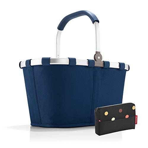 Reisenthel Cabas à provisions et poche Bleu foncé