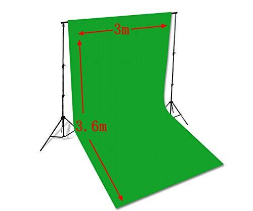 Paño de Fondo de fotografía de Fondo de Pantalla Verde, fotografía Profesional Plegable, para Video, televisión, Estudio fotográfico, Soporte de Marco de Fondo, transmisión Web en Vivo 3 x 3.6M