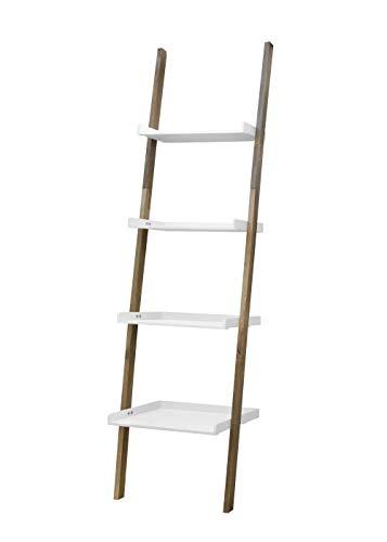 FTL Estantería de madera con 4 niveles, color blanco