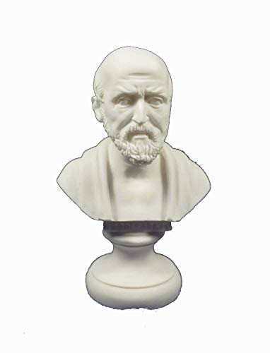 """Hippokrates-Büste / Skulptur des """"Vaters der modernen Medizin"""", Reproduktion im altgriechischen Stil"""