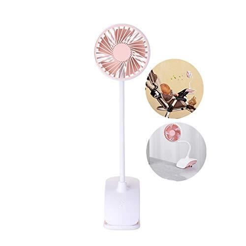 LHFLU-SP USB Mini Clip Ventilador de Escritorio Portátil Recargable Silencioso Ventiladores de Enfriamiento de Aire de Mesa de Escritorio para Dormitorio de Oficina,Rosado