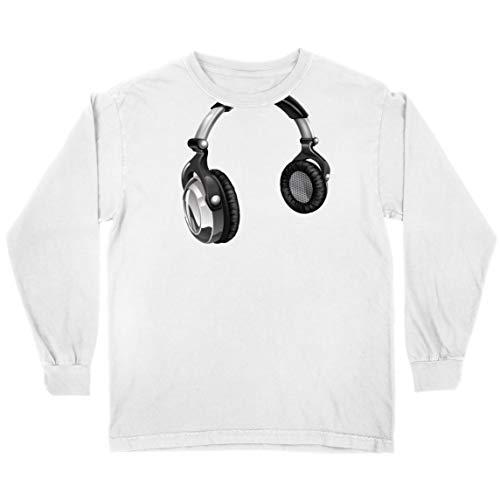 lepni.me Camiseta para Niño/Niña Regalo de DJ para los Amantes de la música Música Retro, Electrónica, Auriculares Imprimir (9-11 Years Blanco Multicolor)