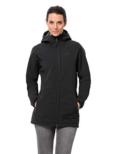 Jack Wolfskin Damen Rock Valley Coat W Mantel, Black, L