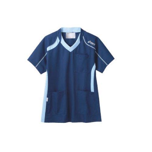 [asics(アシックス)] 医療用ジャケット CHM301 男女兼用 0403ダークブルー×ペールブルー Mサイズ