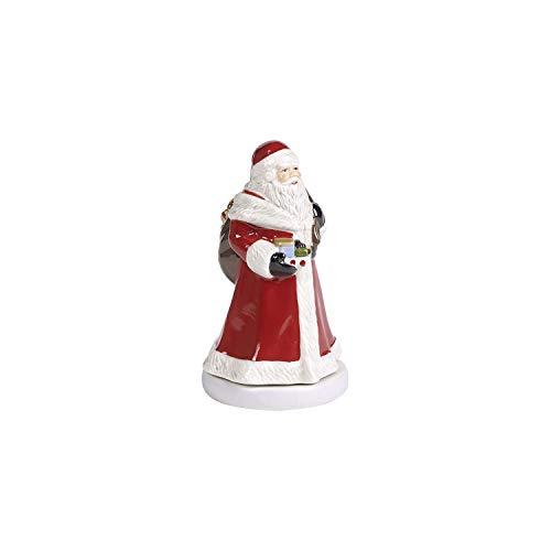Villeroy & Boch Nostalgico Melody Babbo Natale Figura Girevole, Statuetta Decorativa Raffigurante Babbo Natale in Porcellana Dura, Metallo, Plastica, Multicolore