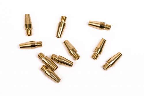 Katimex® Anfangshülse Kati Blitz | (10 St.) | Messing- Anfangshülse | für Glasfaserprofil Ø 3,0 mm mit M5 Außengewinde