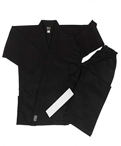 Middleweight 7.5 oz Traditional Karate Uniform - Black Size 2