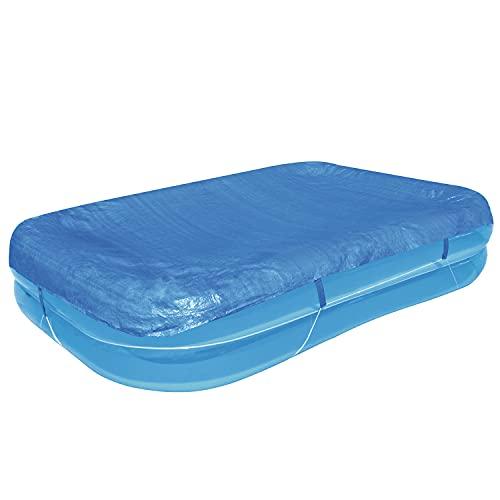H4L Pool Abdeckung für Family Pool 262X175x51CM Abdeckplane Swimmingpool Plane Blau