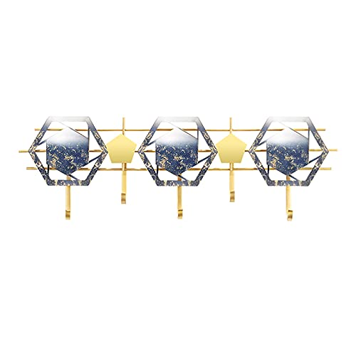 Estilo nórdico de la pared del abrigo de la pared con 5 ganchos de metal Hecho a mano Hecho a mano Ganchos de acero inoxidable Art estilo de arte Decoración de la casa Ganchos para la entrada Baño Dor