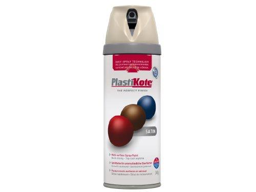 Plasti-kote 22123 400ml Premium Spray Paint Satin - Warm G