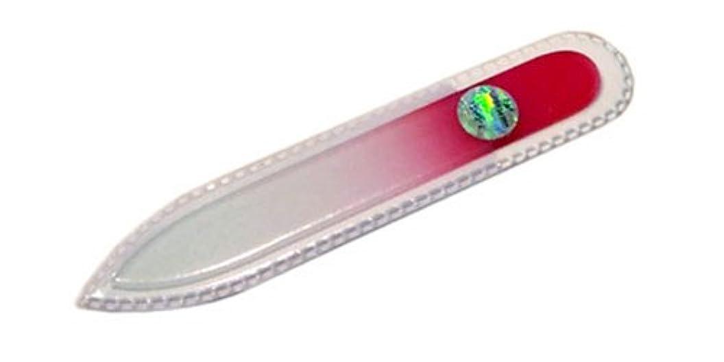 乳白火炎セントブラジェク ガラス爪やすり 90mm 両面タイプ(ピンクグラデーション #07)