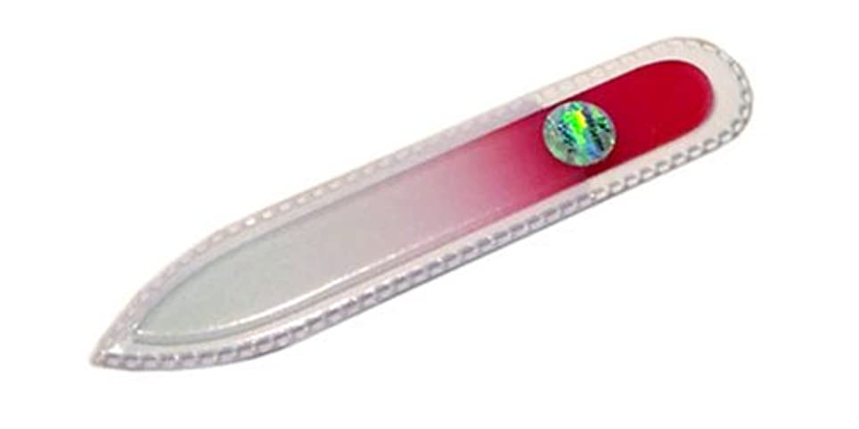 周り配分くブラジェク ガラス爪やすり 90mm 両面タイプ(ピンクグラデーション #07)