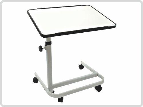 Beistelltisch, Farbe:weiß, fahrbar - Beistellwagen Krankentisch Bett-Tisch