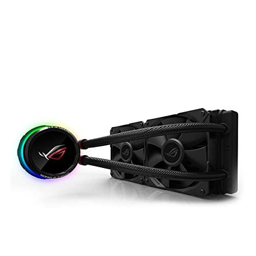 Asus ROG RYUO 240 Sistema di Raffreddamento per CPU All-In-One Liquido, Display OLED, Aura Sync RGB, 2 Ventole di Raffreddamento da 120 mm, Nero