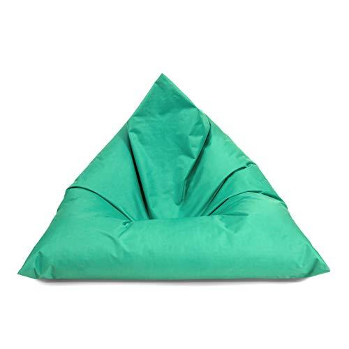 Puf triángulo exterior Beanbag Interior puf 3 tamaños & 32 colores cojín de suelo gigante puf adultos Bean Bags Niños Salón (145 cm x 100 cm x 100 cm), Pacific