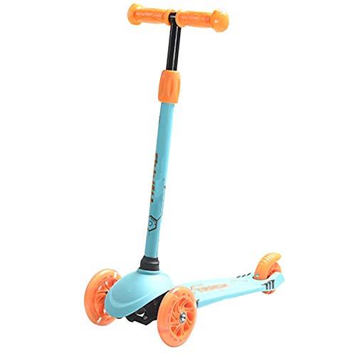 LUO Patinetes para niños Scooter Plegable para niños, dirección de Gravedad, Scooter de Tres Ruedas, 1 Segundo desmontaje, Pedal Antideslizante, Durante 2-5 años