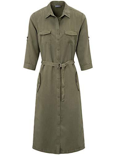 BASLER Damen Blusenkleid mit Taschen und Bindegürtel