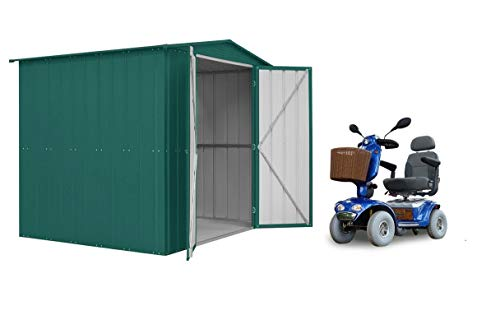 Lotus LOTUSMOBILITY86HG 8x6 Double Hinged Door Mobility Metal Shed-Heritage Green