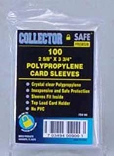 Collector Safe Soft Card Sleeve(Qty = 200 Packs of 100 Sleeves)
