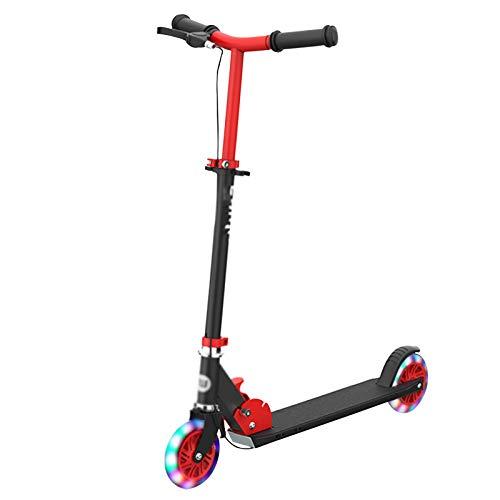 LUO'S Kickscooter Kinder Roller, Dual-Bremsen, Rasiererroller, faltbar, doppelte Stoßdämpfung, 4-Gang-Aufzug für...