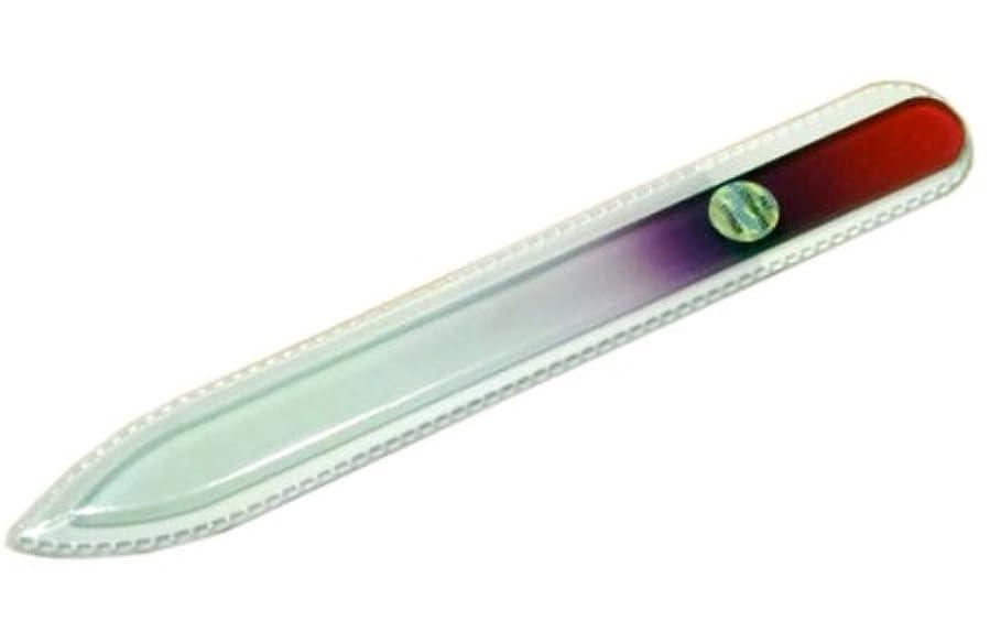 適度な散髪渦ブラジェク ガラス爪やすり 140mm 片面タイプ(パープルグラデーション #03)
