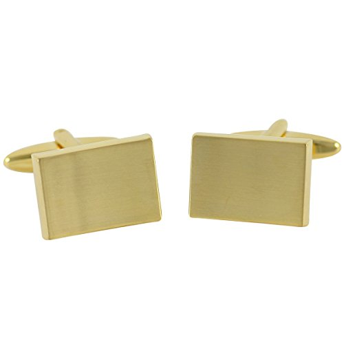 Lindenmann Cufflinks/Cuff Buttons, Gold-Colored, with Gift Box, 2648