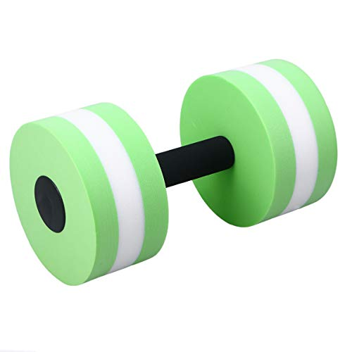 BESPORTBLE Water Weights Aquatic Dumbbells for Pool Fitness Water Aerobics Therapy Workouts Pool Exercise Equipment (Green)