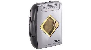Aiwa HS-RM186 Tragbarer Kassettenspieler mit Radio Silber