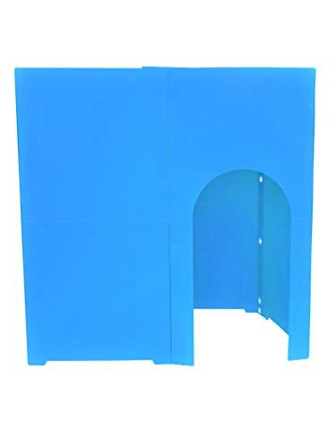 個室 パーテーション 間仕切り コシツダナ(Koshitsu-Dana)簡単設置で自分だけの空間 軽量日本製 プラダン製 タチバナ産業 (ライトブルー)