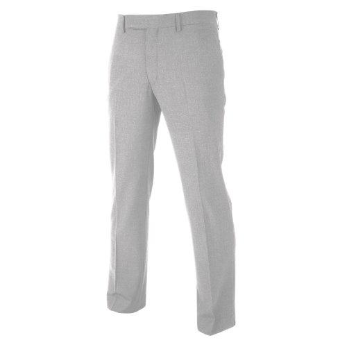 IJP Design - Pantaloni da Golf Classici da Uomo, Taglia 40-30, T70-143-40-30, Colore: Grigio