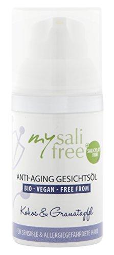 Anti Ageing Face Oil . Organic . Selection of highest quality oils Soin intensif pour peaux sensibles, avec une légère odeur de coco, 100 % cosmétiques biologiques certifiés, 30 ml