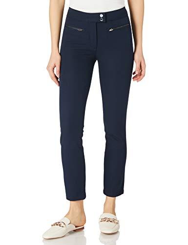 Tommy Hilfiger GABAR Zip Slim Ankle Legging Pantalones, Blue, S36 para Mujer