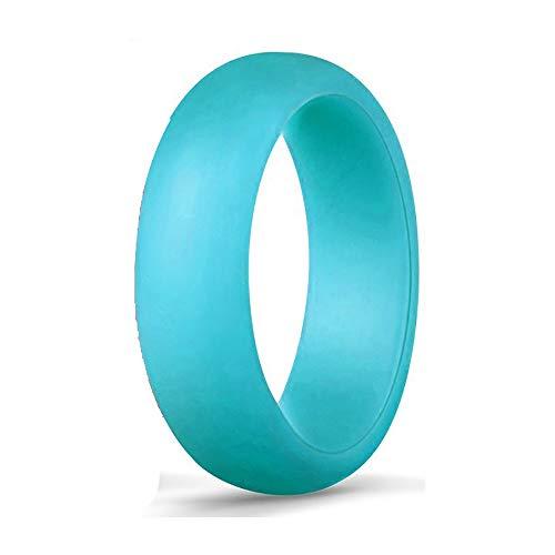 UANDM Siliconen Bruiloft Ring Dames Dames Valentijnsdag Bruiloft Ring Hanger Outdoor Sport Duurzame en Comfortabele Antibacteriële Diamant Polyhedron Ontwerp Kleur