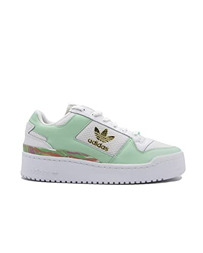 adidas Forum Bold W, Zapatillas Deportivas Mujer, FTWR White Frozen Green Matte Gold, 40 EU