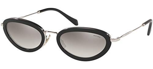 Miu Miu Damen 0MU 58US Sonnenbrille, Black/Grey Shaded, 54