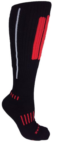 MOXY Socks Knee-High Performance Deadlift APeX Socks, Black/Red/Grey