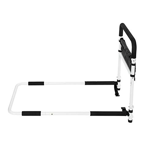 Rehabilitation Equipment Adjustable Household Auxiliary Handle, Stand Up Frame for The Elderly, Black and White