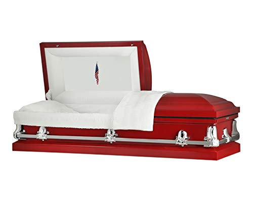 Titan Panel Collection - Orion Red Steel Casket