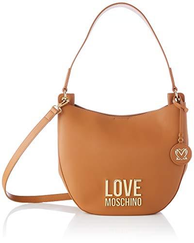 Love Moschino Precollezione SS21 | Borsa Hobo PU da Donna, Piccola, Cammello, Normal