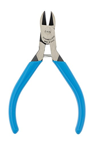 "Channellock E41S 4"" HL Diagonal Cutting Plier, Blue"