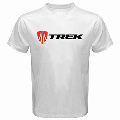 QIAN Trek Bicycle Mountain Bike Logo Mens White T-Shirt