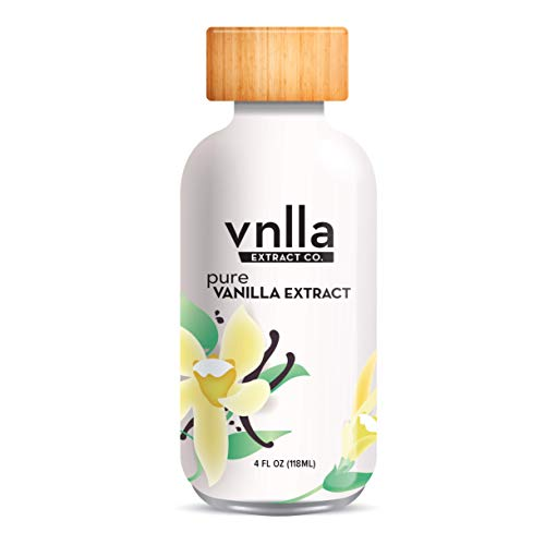 All Natural Pure Vanilla Extract 4oz - vnlla Extract Co. - Sustainably Sourced from Madagascar | Perfect for Baking Cake, Cookies, And Bread