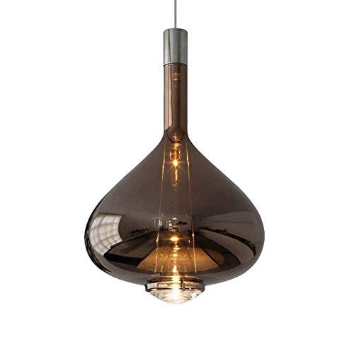 HJW Cristal Pendiente de la Luz de la Lámpara Simple Nórdica Altura Ajustable 5W Led de una Sola Cabeza Colgando de la Lámpara Pendiente de Las Gotitas de Sombra Techo Luces Del Dormitorio de