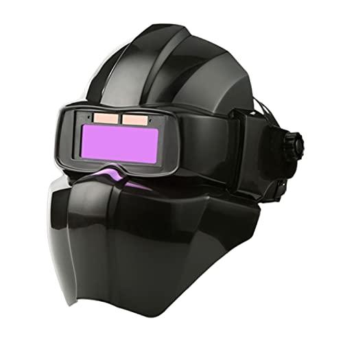 Fenteer Casco de soldadura Máscara de soldador Rango de sombra 9-13 Capucha de soldadura con energía solar para máscara de soldador de Mig Tig