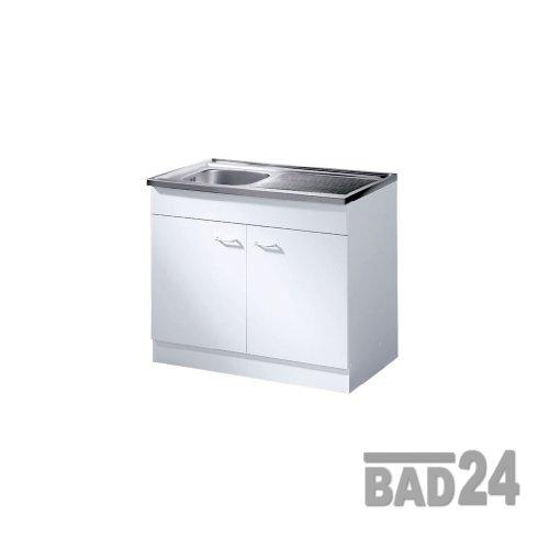 Küche-Spülenschrank/Mehrzweckschrank 80x60 Start Melamin weiß/weiß