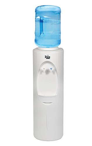 Brio Premiere Series Top Loading Freestanding Water Cooler Dispenser - Dispenses Cold and Room Temperature Water, Child Safety Lock, Holds 3 or 5 Gallon Bottles - UL/Energy Star Approved