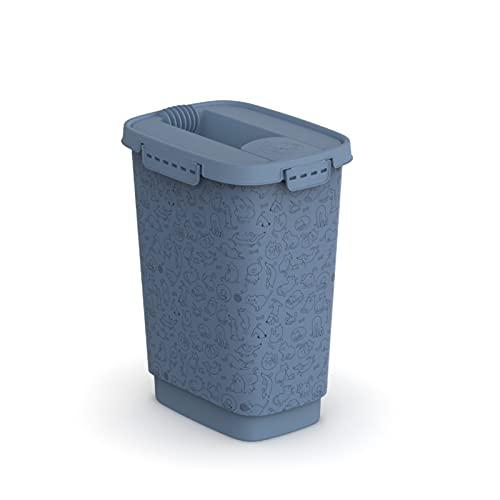 Rotho Cody Contenitore per cibo per animali 10l con coperchio, Plastica (PP) senza BPA, blu, 10l (24.3 x 17.9 x 32.2 cm)