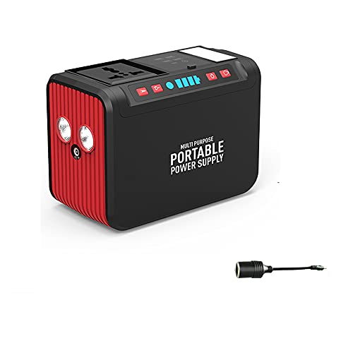 Wly Fuente de alimentación portátil 20000mAh / 74Wh CA Power Socket Power Bank con 18W Tipo-C Cargador PD para MacBook Pro/Air, HP Specter